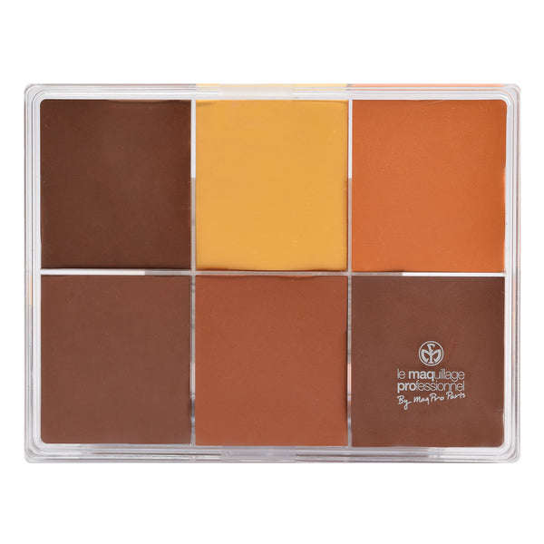 alt Maqpro 6-color Fard Creme Foundation Palette E1 Darker skins 1