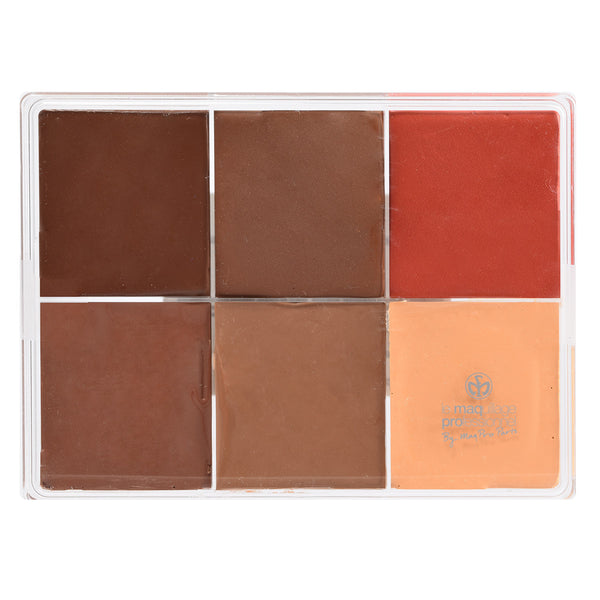 alt Maqpro 6-color Fard Creme Foundation Palette E2 Darker skins 2