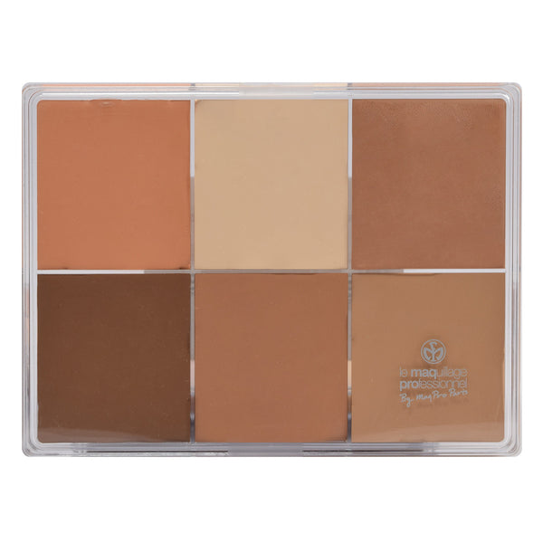 alt Maqpro 6-color Fard Creme Foundation Palette E5 Asian skins 1