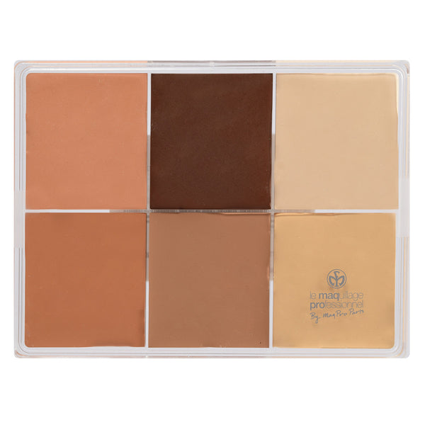 alt Maqpro 6-color Fard Creme Foundation Palette E6 Asian skin 2