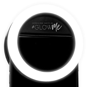 alt Impressions Vanity Co Glowme 2.0 LED Selfie Ring Light for Mobile Devices (USB Rechargeable) Black