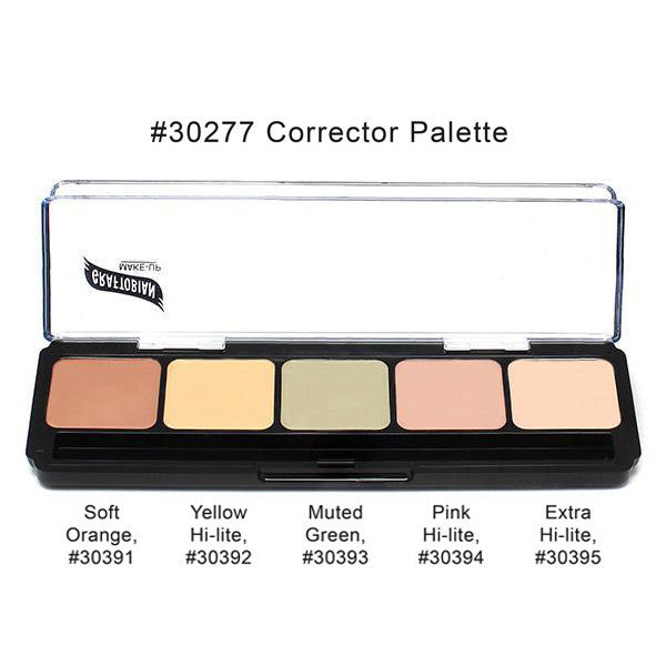 Graftobian Hi-Def Glamour Creme Corrector Palette - Light Corrector Palette (#30277) | Camera Ready Cosmetics - 2