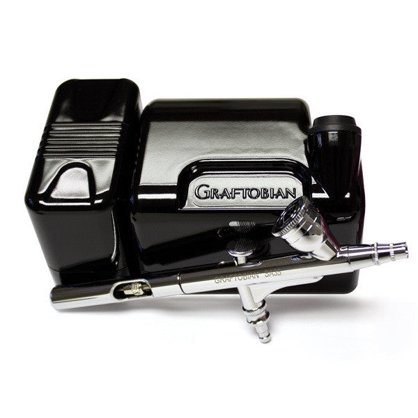 Graftobian Walk-Around Airbrush Package (USA Only) - Black (20045GA-BK) | Camera Ready Cosmetics - 1