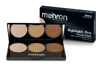 alt Mehron Highlight-Pro 3 Color Palette Warm
