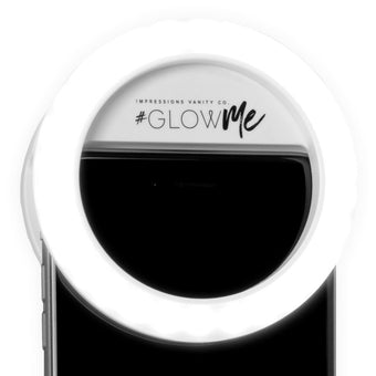 alt Impressions Vanity Co Glowme 2.0 LED Selfie Ring Light for Mobile Devices (USB Rechargeable) White