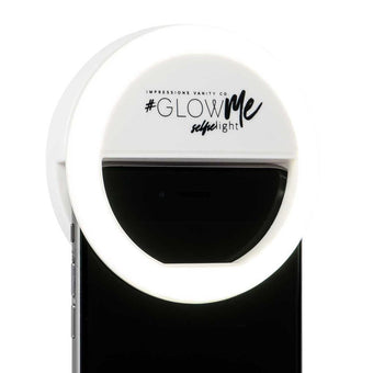 alt Impressions Vanity Co Glowme LED Selfie Ring Light for Smartphones White
