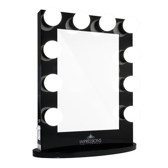 alt Impressions Vanity Co Hollywood Iconic Vanity Mirror Black / Premium Frosted LED Globe Bulbs