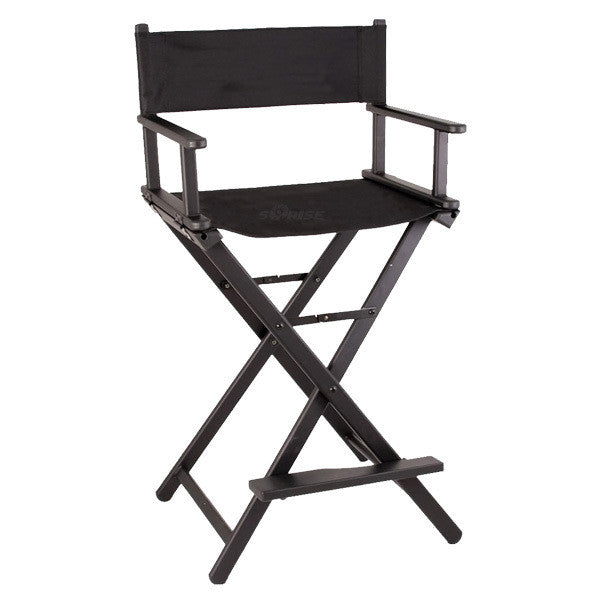 Just Case   Sunrise Black Aluminum Director Chair