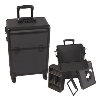 Just Case - Sunrise All Black 4-Wheel Case E6301DTAB (USA Only) -  | Camera Ready Cosmetics - 1