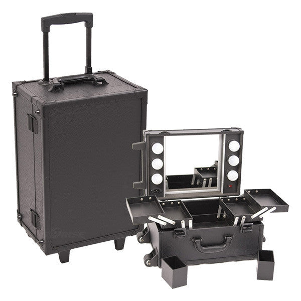JUST CASE - ALL BLACK MAKEUP STUDIO WITH LIGHT C6201 (USA ONLY) -  | Camera Ready Cosmetics - 1
