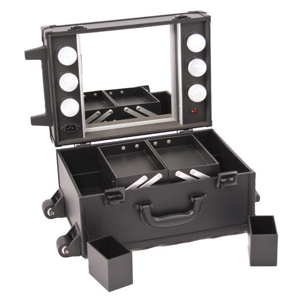 JUST CASE - ALL BLACK MAKEUP STUDIO WITH LIGHT C6201 (USA ONLY) -  | Camera Ready Cosmetics - 6