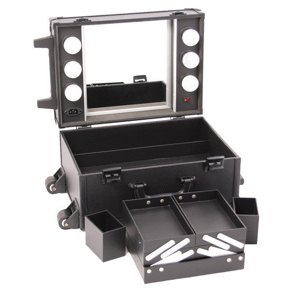 JUST CASE - ALL BLACK MAKEUP STUDIO WITH LIGHT C6201 (USA ONLY) -  | Camera Ready Cosmetics - 5