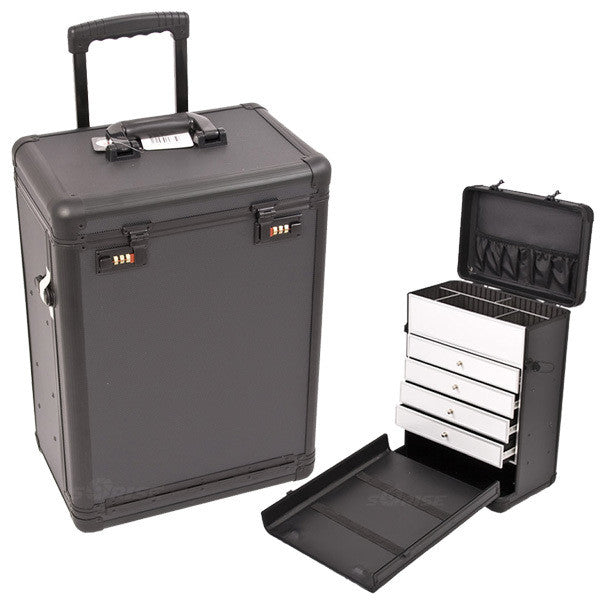 Just Case - Black Dot Rolling Case with Drawer C6000 (USA Only) -  | Camera Ready Cosmetics - 1