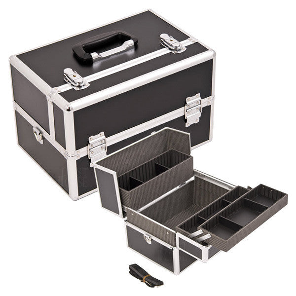 JUST CASE - SUNRISE BLACK AND SILVER CASE HK3401DTBK (USA ONLY) -  | Camera Ready Cosmetics - 1