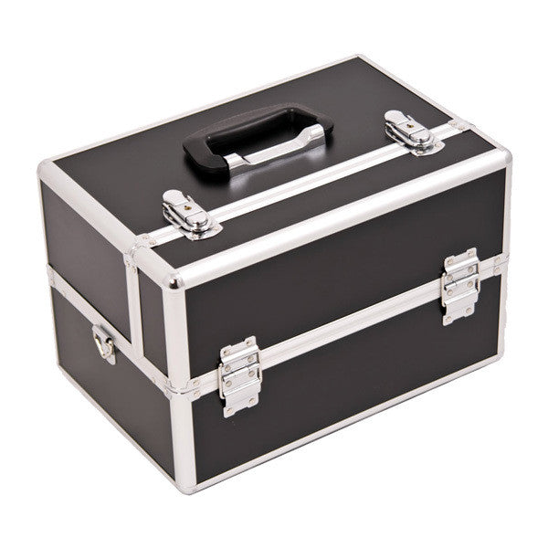 JUST CASE - SUNRISE BLACK AND SILVER CASE HK3401DTBK (USA ONLY) -  | Camera Ready Cosmetics - 2
