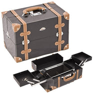 JUST CASE - BLACK AND BROWN VINTAGE STYLE CASE C3019PVBK (USA ONLY) -  | Camera Ready Cosmetics - 1