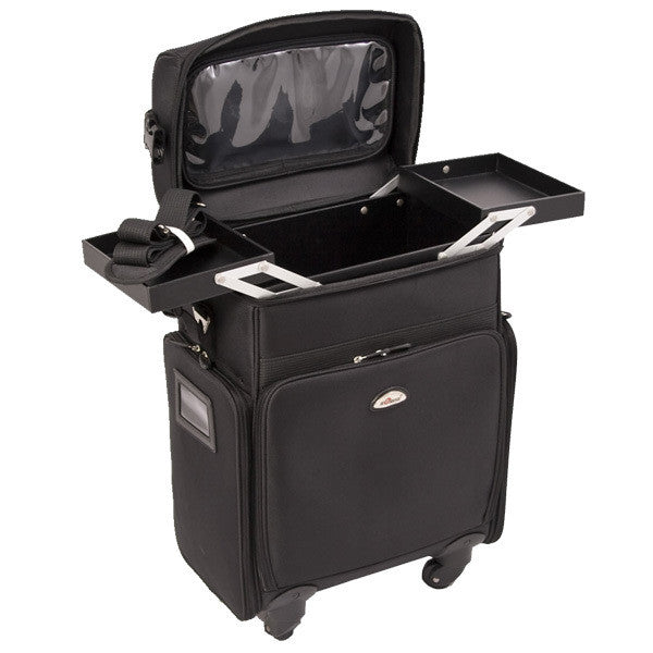 Just Case -  Black Soft Sided Rolling Case C6017NLAB (USA Only) -  | Camera Ready Cosmetics - 3