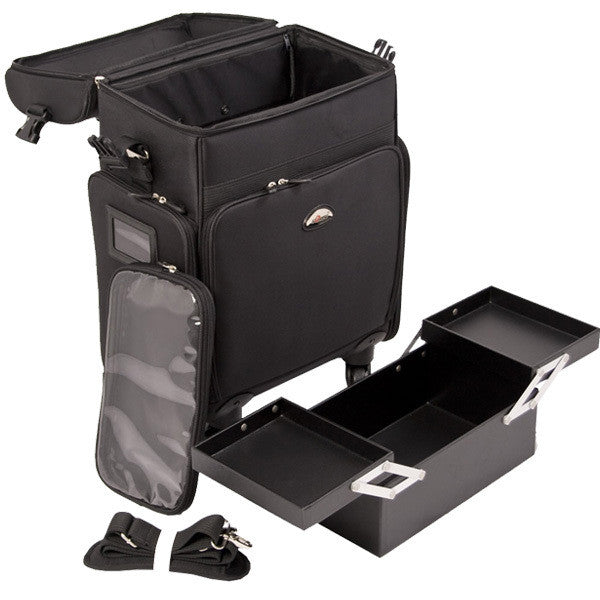 Just Case -  Black Soft Sided Rolling Case C6017NLAB (USA Only) -  | Camera Ready Cosmetics - 6