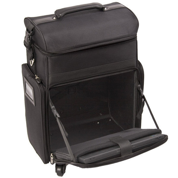 Just Case -  Black Soft Sided Rolling Case C6017NLAB (USA Only) -  | Camera Ready Cosmetics - 7