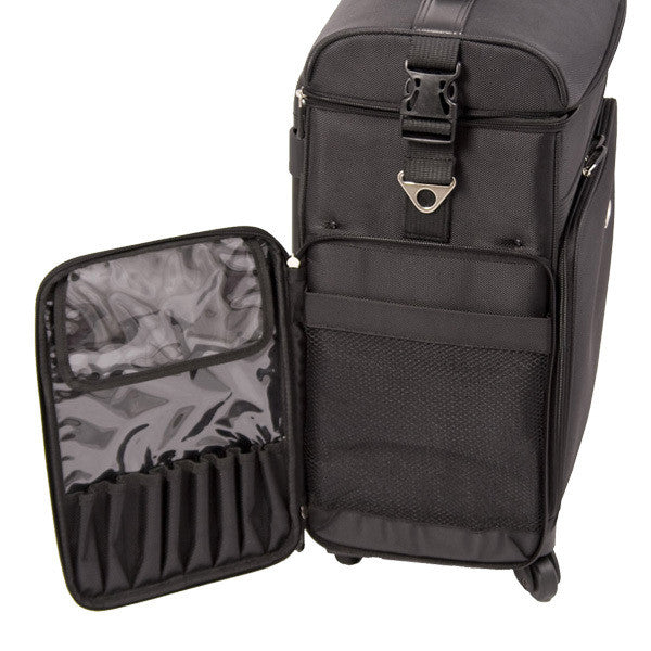 Just Case -  Black Soft Sided Rolling Case C6017NLAB (USA Only) -  | Camera Ready Cosmetics - 9