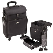 Just Case -  Black Soft Sided Rolling Case C6017NLAB (USA Only) -  | Camera Ready Cosmetics - 1