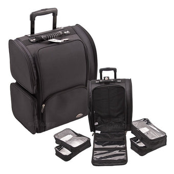 JUST CASE USA - SUNRISE BLACK TROLLEY 1680D NYLON CASE C6401NLAB (USA ONLY) -  | Camera Ready Cosmetics - 1
