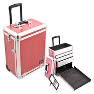 JUST CASE SUNRISE PINK CROCODILE PATTERN DRAWER CASE E6303CRHP (USA ONLY) -  | Camera Ready Cosmetics - 1