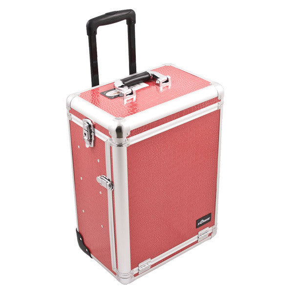 JUST CASE SUNRISE PINK CROCODILE PATTERN DRAWER CASE E6303CRHP (USA ONLY) -  | Camera Ready Cosmetics - 2