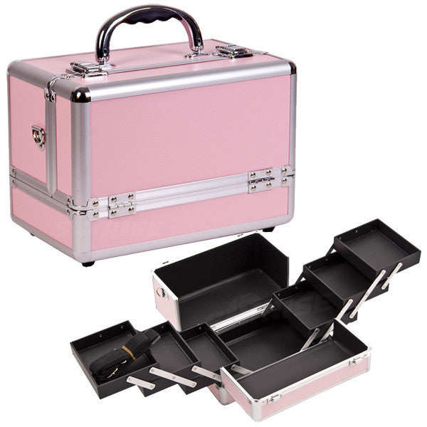 JUST CASE PINK AND SILVER CASE C0001 (USA ONLY) -  | Camera Ready Cosmetics - 1
