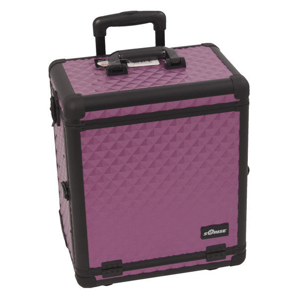 JUST CASE - SUNRISE PURPLE DIAMOND PATTERN DRAWER CASE E6302DMPLB (USA ONLY) -  | Camera Ready Cosmetics - 2