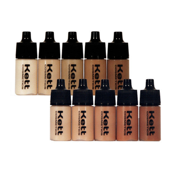 Kett Hydro Foundation Trial Pack (5 count of 7ml bottles) -  | Camera Ready Cosmetics - 1