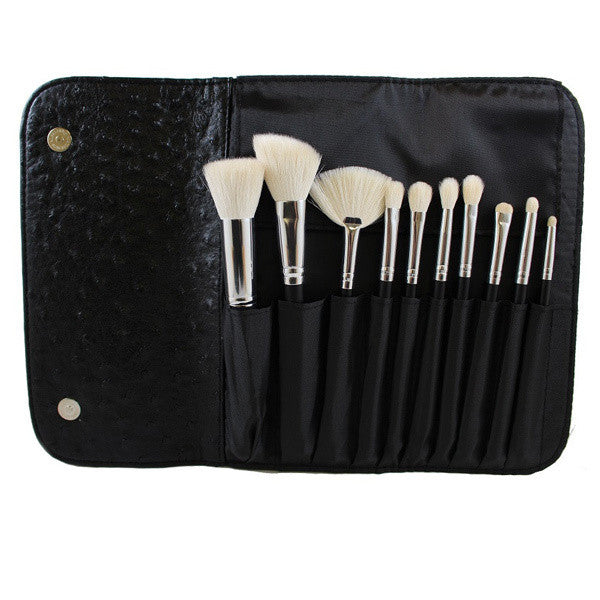 Morphe - SET 692 - 10 PIECE DELUXE SET W/ OSTRICH SKIN SNAP CASE -  | Camera Ready Cosmetics