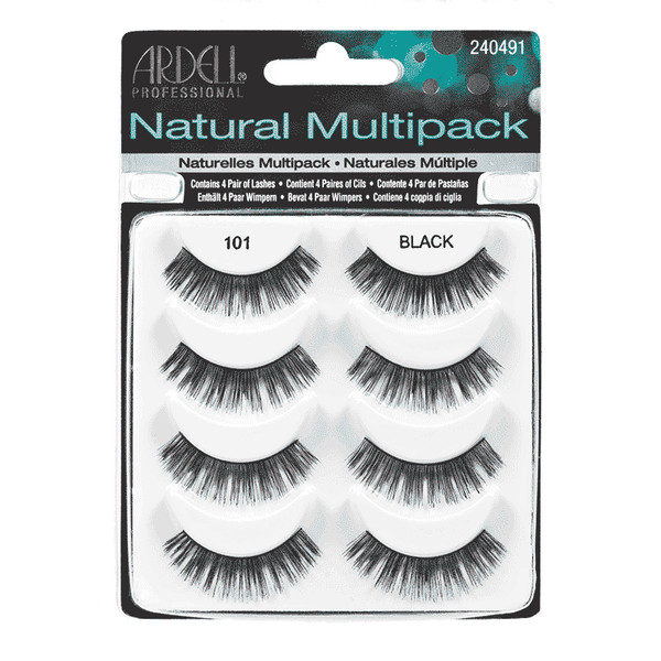 Ardell Natural Lashes Multipack 101 - Black (61406) -  | Camera Ready Cosmetics