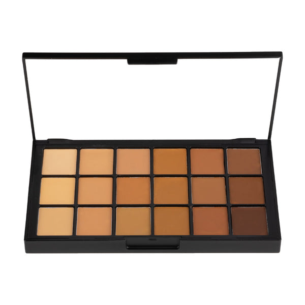 alt Ben Nye Matte HD Foundation Palette - 18 Colors Olive-Brown (HDFP-14)