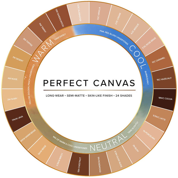 alt Temptu Perfect Canvas Hydra Lock Airbrush Foundation 6-pack Light/Medium