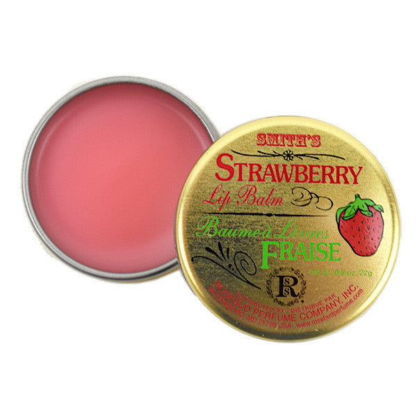 Rosebud Perfume Co. - Smith's Strawberry Lip Balm TIN  | Camera Ready Cosmetics