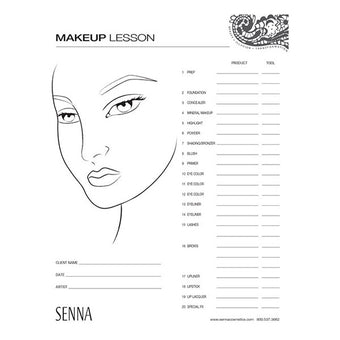 Senna Makeup Artist Face Charts -  | Camera Ready Cosmetics