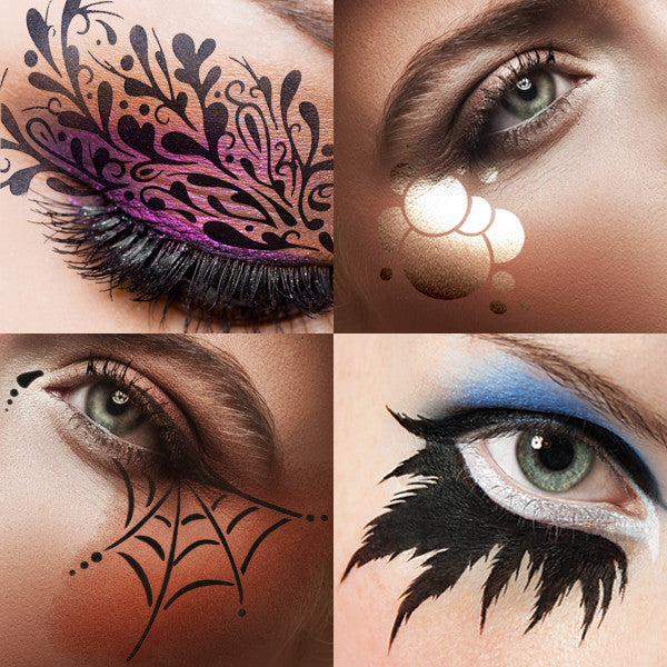 European Body Art Airbrush Makeup Stencils Camera Ready Cosmetics