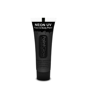 alt PaintGlow UV Face Paint and UV Body Paint 10ml Black (AA1A16)
