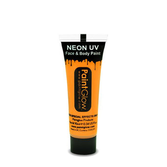 alt PaintGlow UV Face Paint and UV Body Paint 10ml Sunshine Orange (AA1A11)