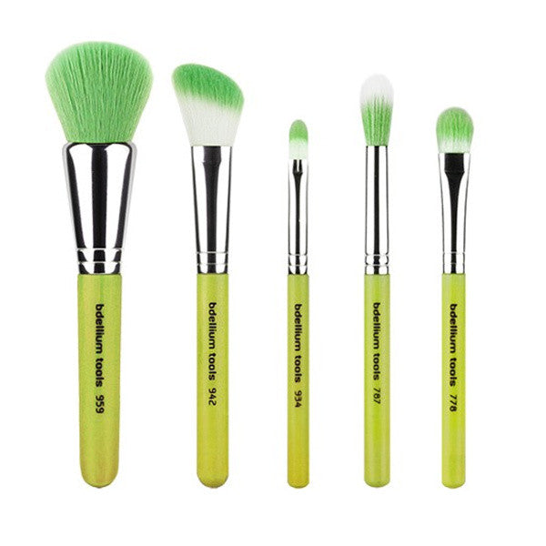 Bdellium Tools Green Bambu Mineral 5pc. Set -  | Camera Ready Cosmetics