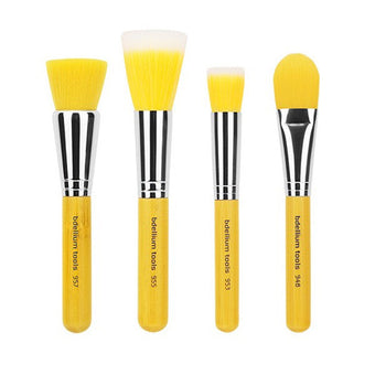 Bdellium Tools Yellow Bambu Brush Sets -  | Camera Ready Cosmetics - 1
