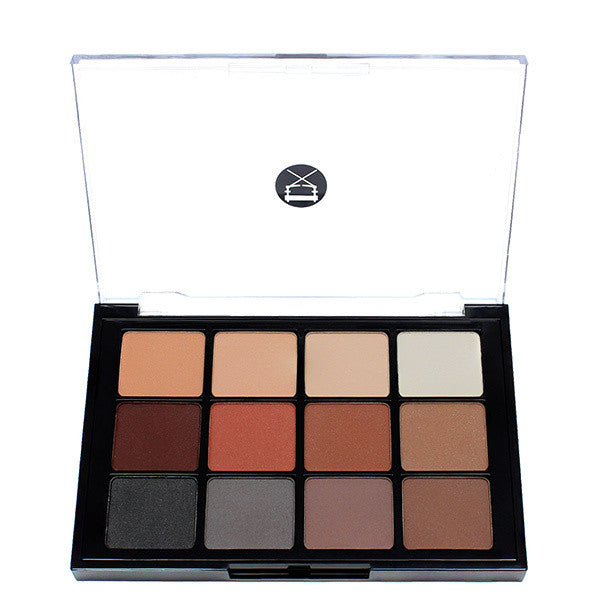 Viseart 12-Color Eyeshadow Palette - 01 Matte -  | Camera Ready Cosmetics - 1