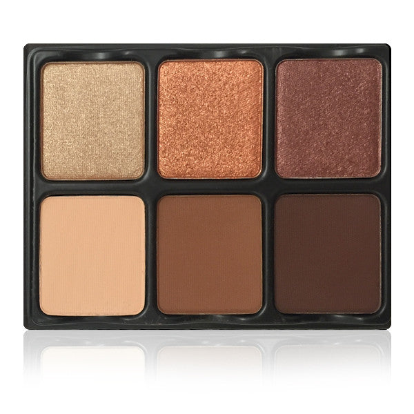 Viseart 6-Color Eyeshadow Palette - Theory Palette II Minx -  | Camera Ready Cosmetics - 1