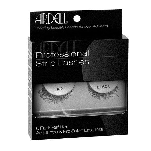 Ardell Professional Strip Lashes 6 Pack #109 Black (60069) -  | Camera Ready Cosmetics