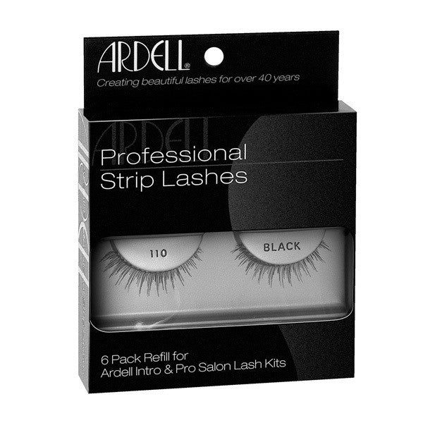 Ardell Professional Strip Lashes 6 Pack #110 Black (60070) -  | Camera Ready Cosmetics