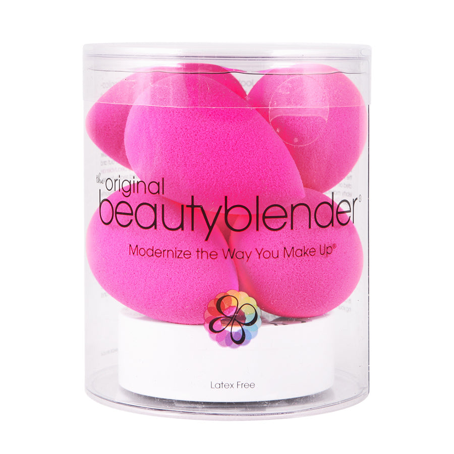 beauty blender  Beautyblender 6 Pack Pink with Cleanser | Camera Ready Cosmetics