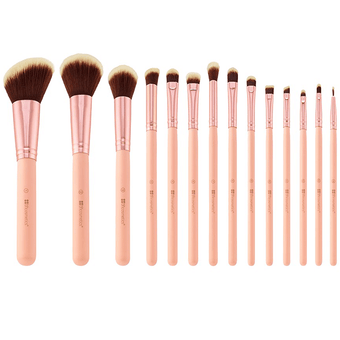 alt BH Cosmetics | BH Chic - 14 Piece Brush Set with Cosmetic Case