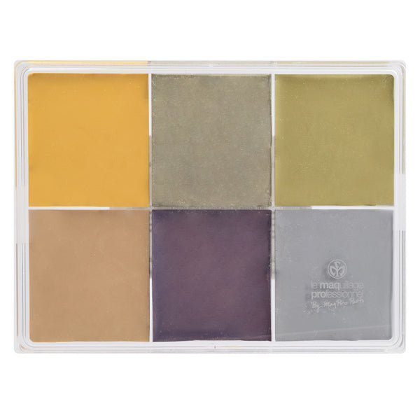 alt Maqpro 6-color Fard Creme Foundation Palette Death color Palette