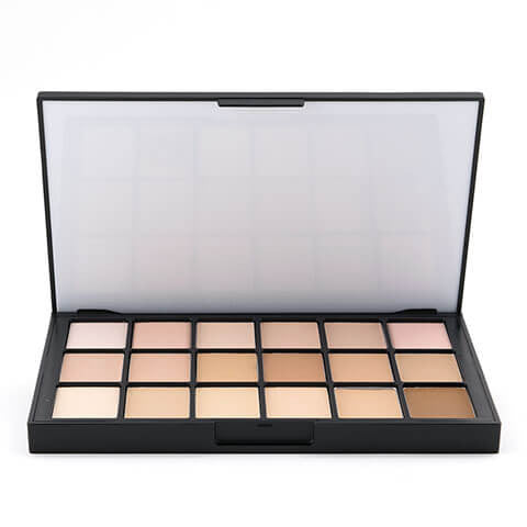 alt Ben Nye Matte HD Foundation Palette - 18 Colors Fair (HDFP-21)